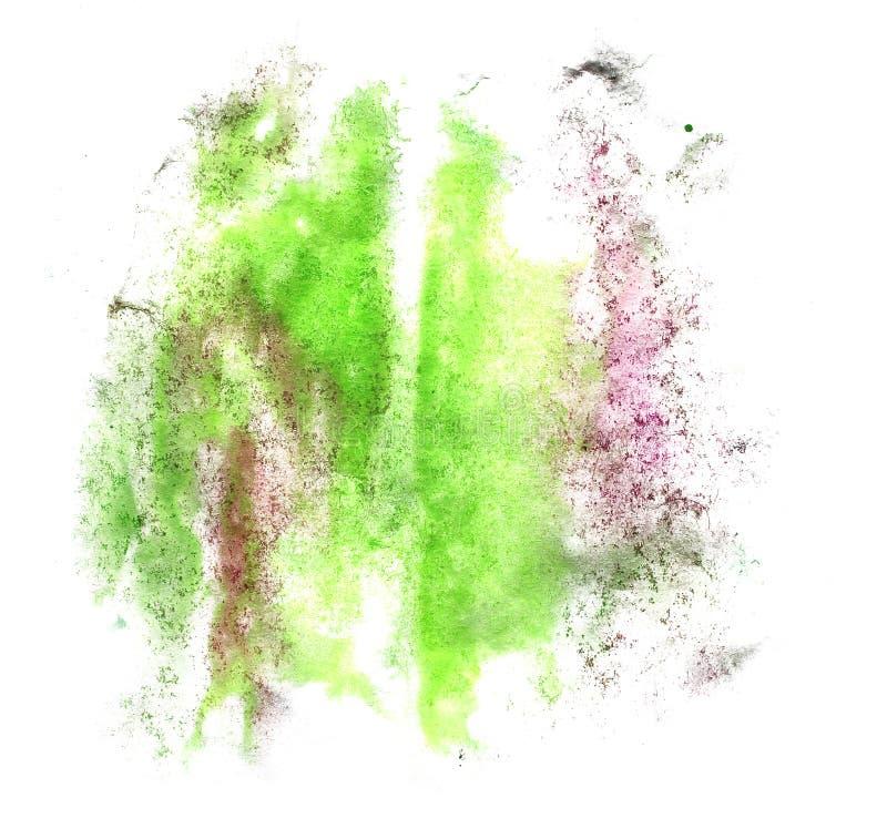 Akvarell för gräsplan för klick för målarfärg för konstvattenfärgfärgpulver royaltyfria foton