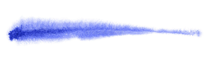 Akvarellborsteslaglängd arkivbild
