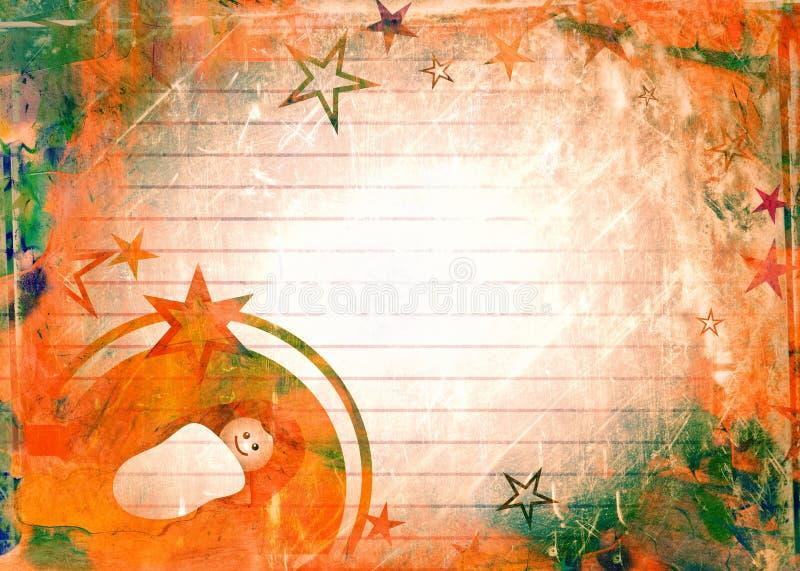 Akvarelljul behandla som ett barn Jesus Paper royaltyfri illustrationer