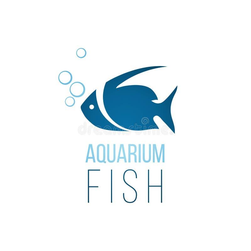 Akvariefisklogomall stock illustrationer