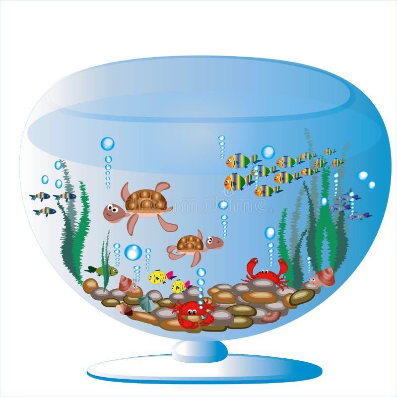 akvarium vektor illustrationer