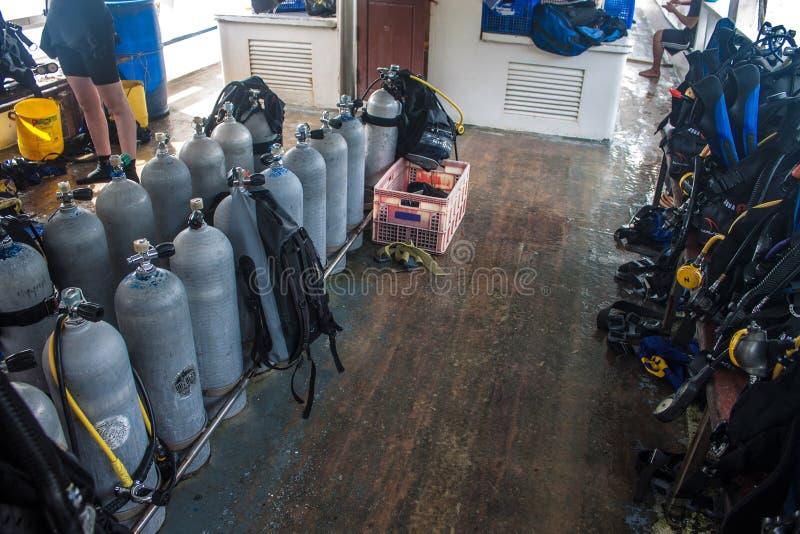 Akwalungu nurkowy wyposażenie zdjęcie stock
