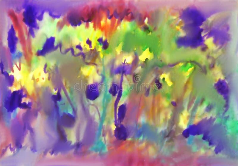 akwarela abstrakcyjna t?o Wiosna kwiat royalty ilustracja