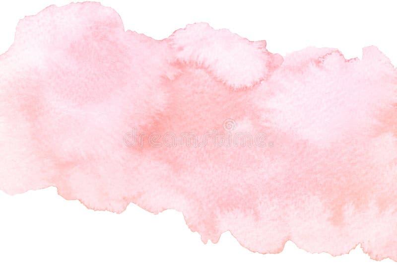 Akwarela abstrakta menchii muśnięcia artystyczny uderzenie odizolowywający na białym tle ilustracja wektor
