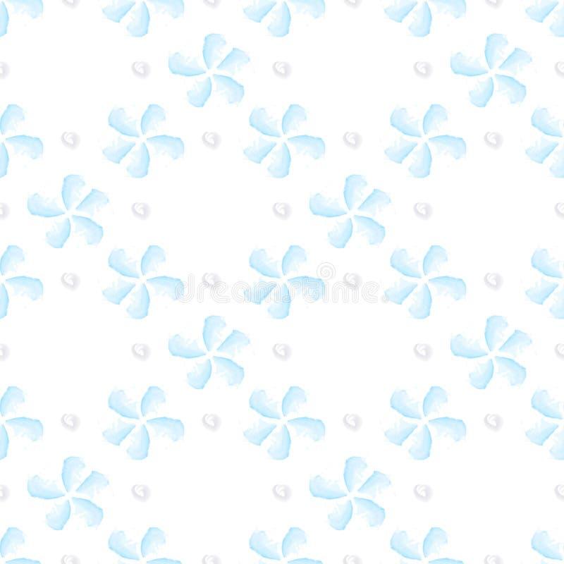 Akwarela błękitnego kwiatu bezszwowy wzór ilustracja wektor