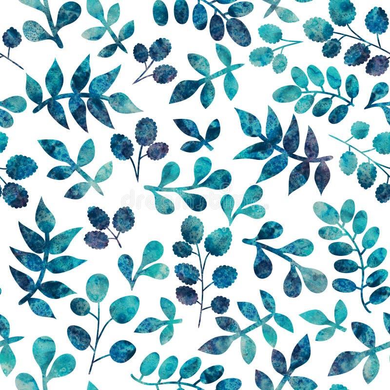 Akwarela bezszwowy wzór na liścia temacie, jesieni bezszwowy klepnięcie royalty ilustracja
