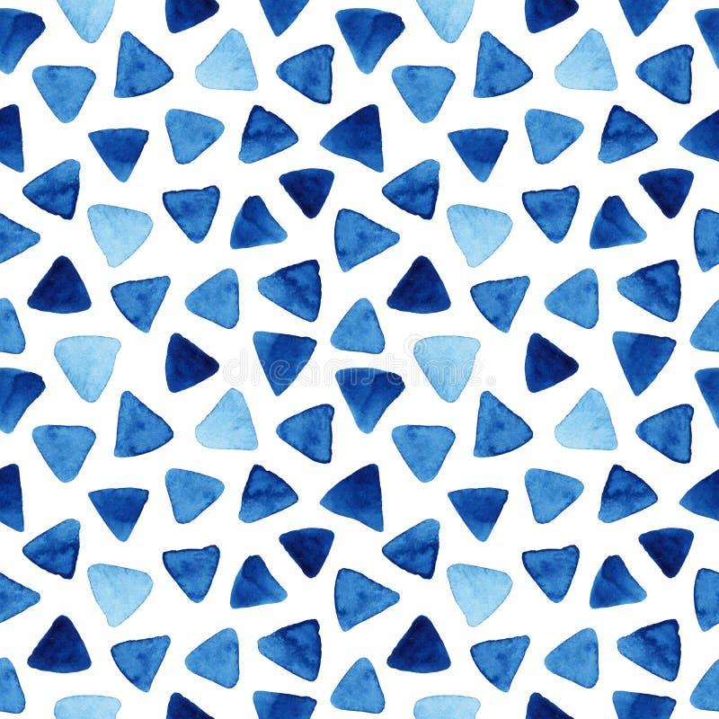 Akwarela bezszwowy wzór z trójbokami ilustracja wektor