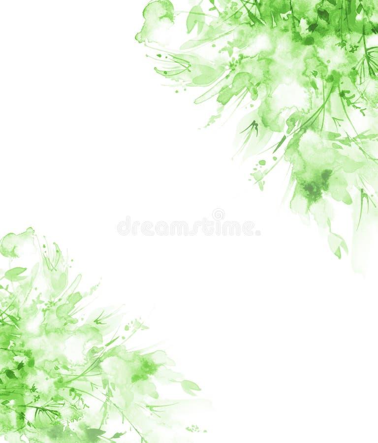Akwarela bukiet kwiaty, Pi?kny abstrakcjonistyczny plu?ni?cie farba, mody ilustracja Storczykowi kwiaty, maczek, chabrowy ilustracja wektor