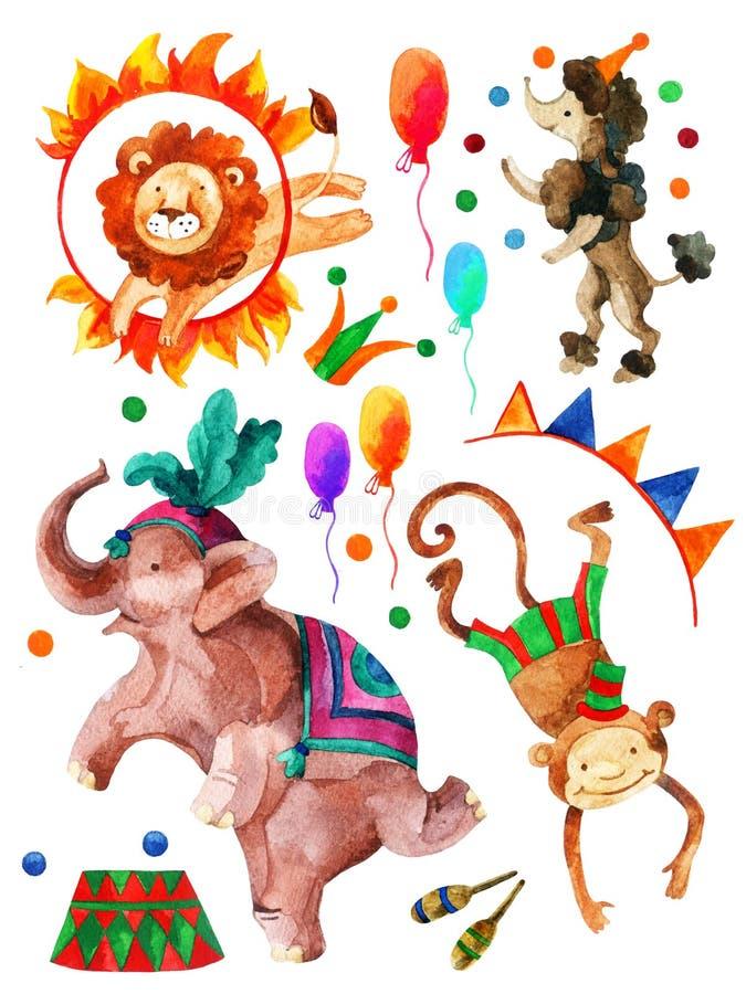 Akwarela cyrk royalty ilustracja