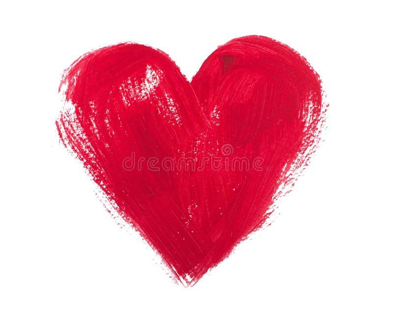 Akwarela i akrylowi serca odizolowywający na białym tle obraz royalty free