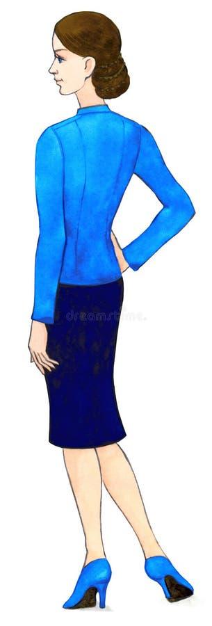 akwarela Kobieta ubierająca w biznesowym stylu ilustracja wektor