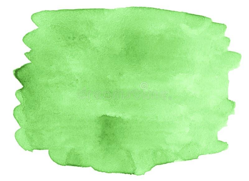 Akwarela kolor soczysta młoda trawa, jaskrawy - zielony abstrakcjonistyczny tło, plama, pluśnięcie farba, plama, rozwód Roczników royalty ilustracja