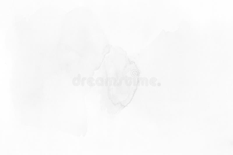Akwarela koloru popielaty kształt na papierowej teksturze Abstrakta bac ilustracja wektor