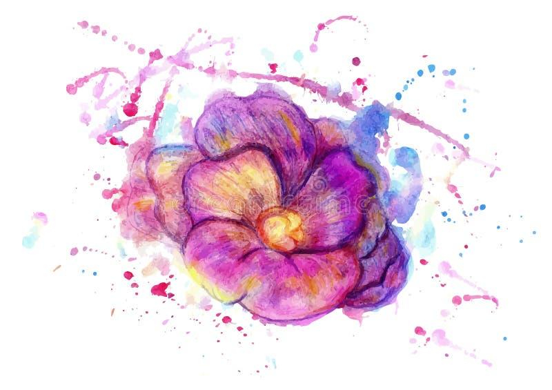 Akwarela kwiat royalty ilustracja