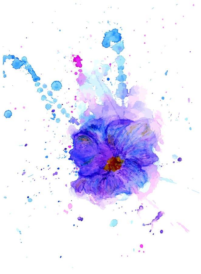 Akwarela kwiat ilustracja wektor