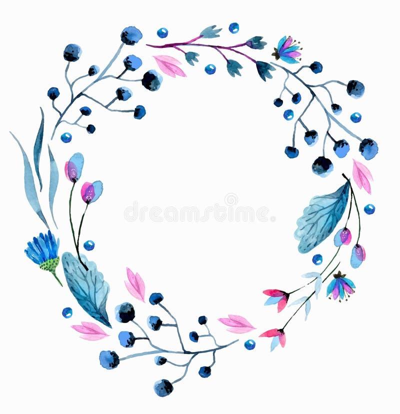 Akwarela kwiatu karta ilustracja wektor
