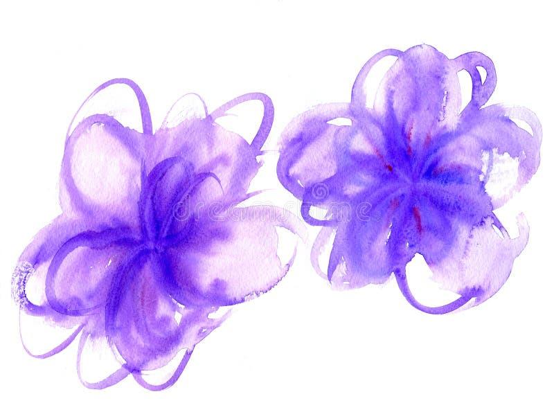 Akwarela kwiatu kształty royalty ilustracja