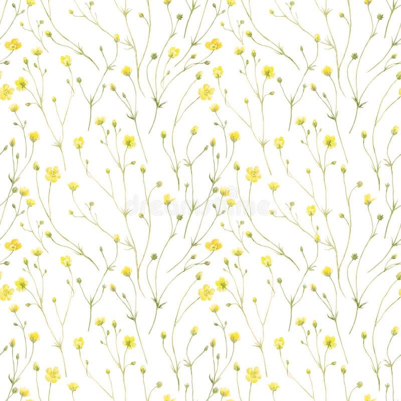 Akwarela kwiecisty wzór ilustracji