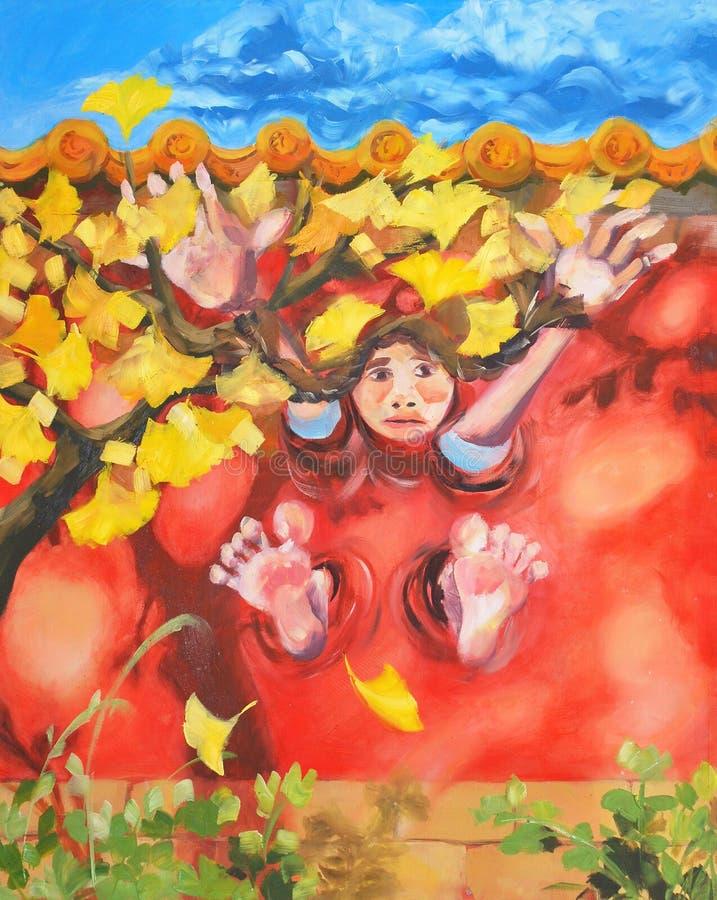 Akwarela maluje uroczą czarnego kota ilustrację zdjęcia stock