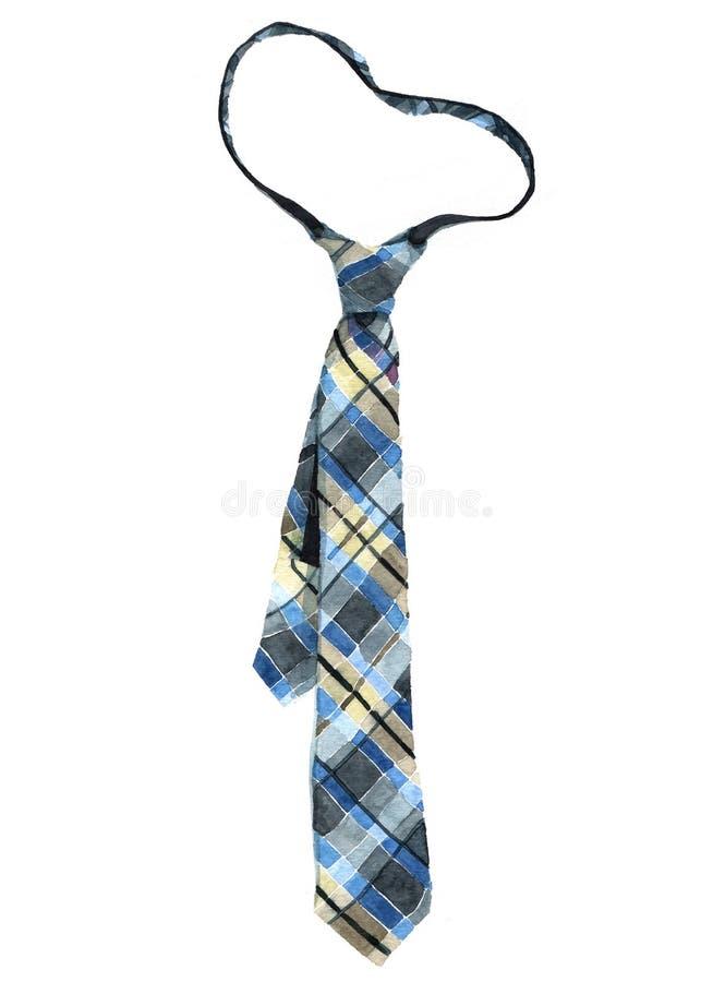 Akwarela paskuj?cy krawat odizolowywaj?cy zdjęcie royalty free