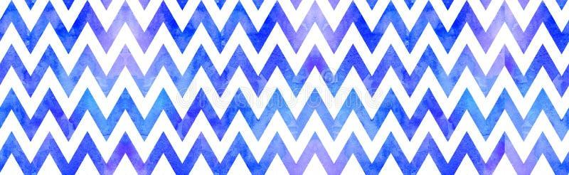 Akwarela szewronu błękitny tło ilustracja wektor