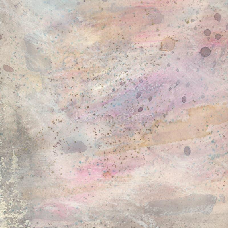 Akwarela textured tło w pastelowych kolorach ilustracji