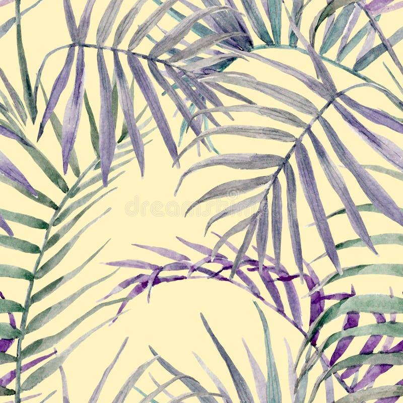 Akwarela tropikalny kwiecisty wzór ilustracji