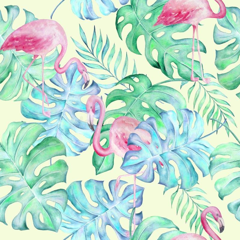 Akwarela tropikalny pattern6 royalty ilustracja
