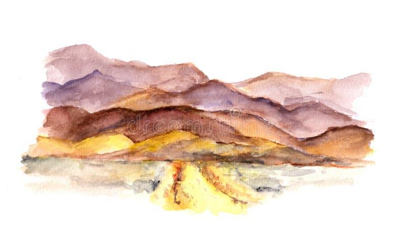 Akwarela widok góry ilustracji