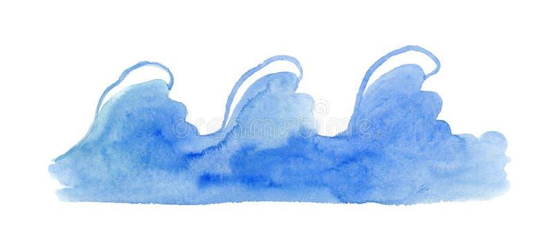 Akwarela wzór morze macha z teksturą na bielu ilustracji