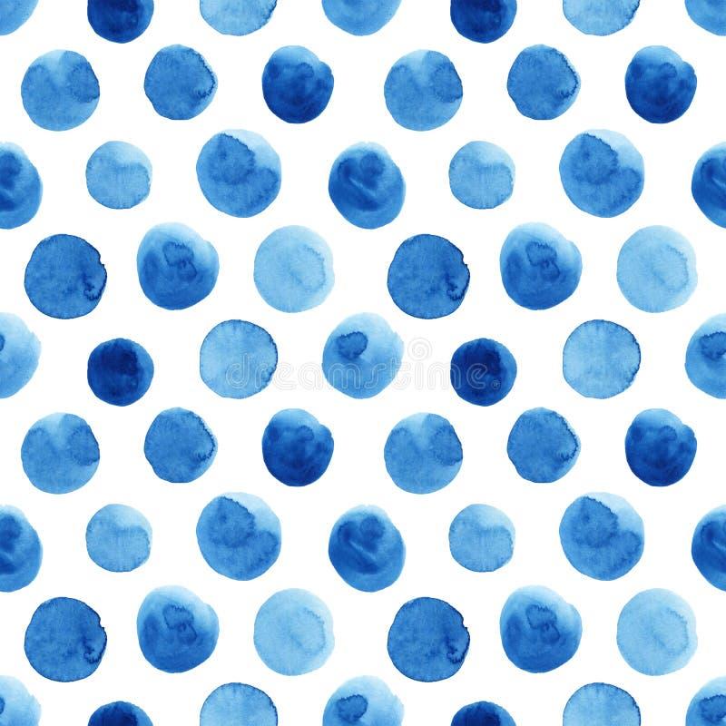 Akwarela wzór z polek kropkami ilustracji