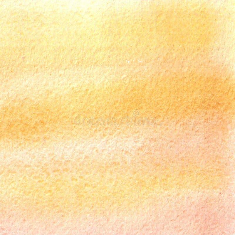Akwareli żółta plama, tło, kropla, tekstura royalty ilustracja