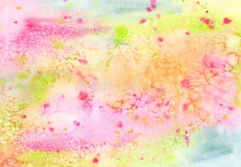 Akwareli abstrakcjonistycznej tęczy kolorowy tło ilustracja wektor