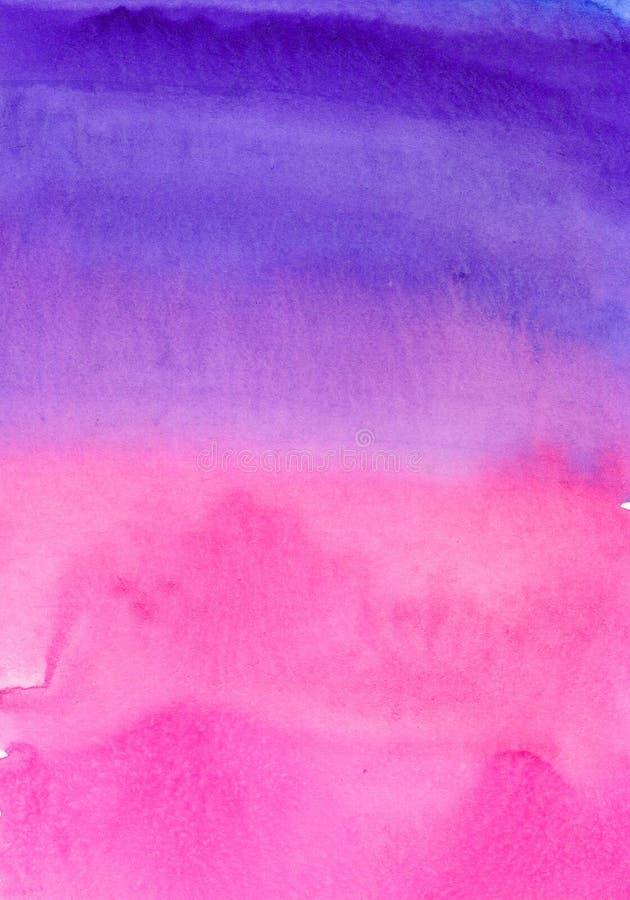 Akwareli abstrakcjonistyczny tło, ręcznie malowany tekstura, akwareli purpury i menchii plamy, Projekt dla tło, tapety, ilustracja wektor