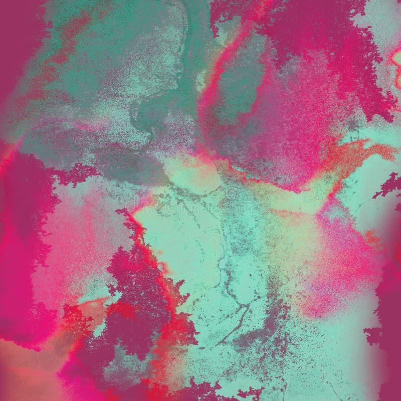 Akwareli abstrakcjonistyczny tło, ręka rysujący watercolour i g tekstura, zdjęcie royalty free