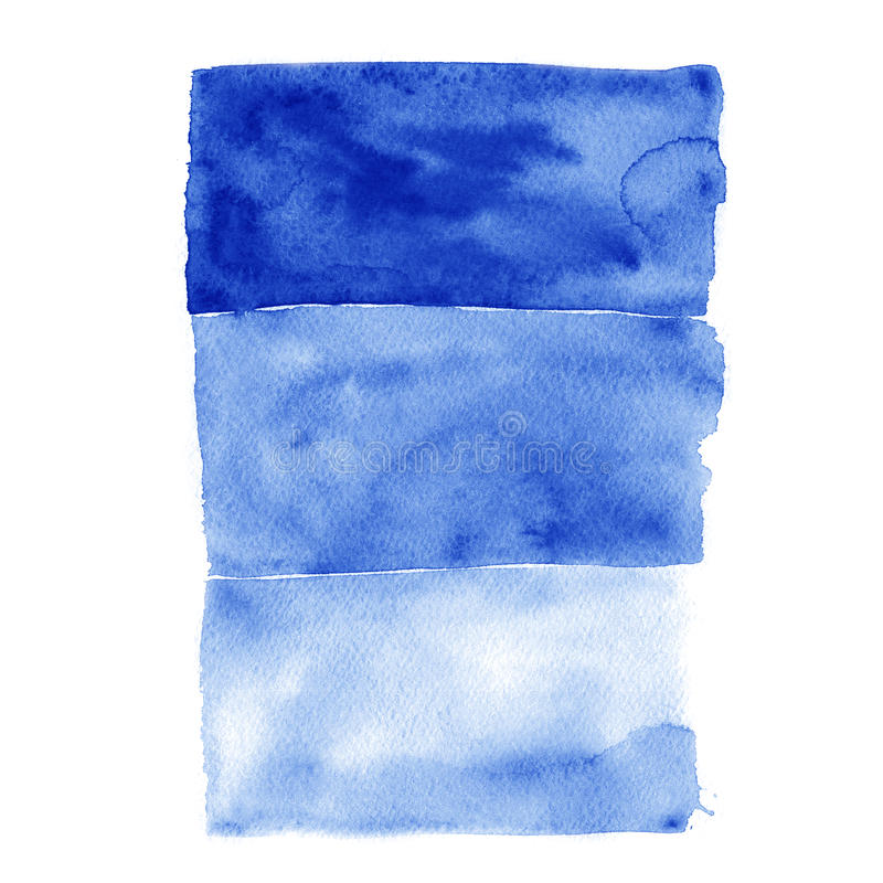 Akwareli błękitne wody gradient ilustracja wektor