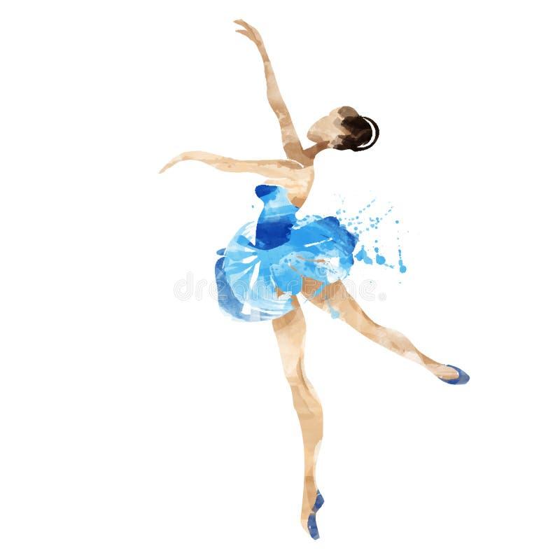 Akwareli baleriny taniec royalty ilustracja
