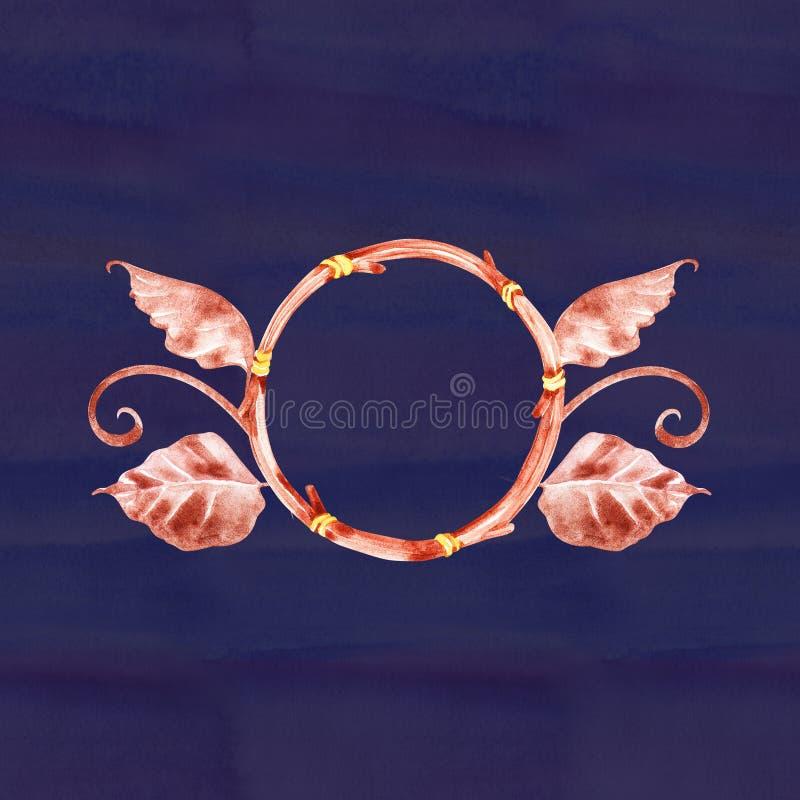 Akwareli dekoracji czecha skład Boho dekoracja Miejscowego wymarzony modny projekt Tajemnica etnic plemienny druk royalty ilustracja
