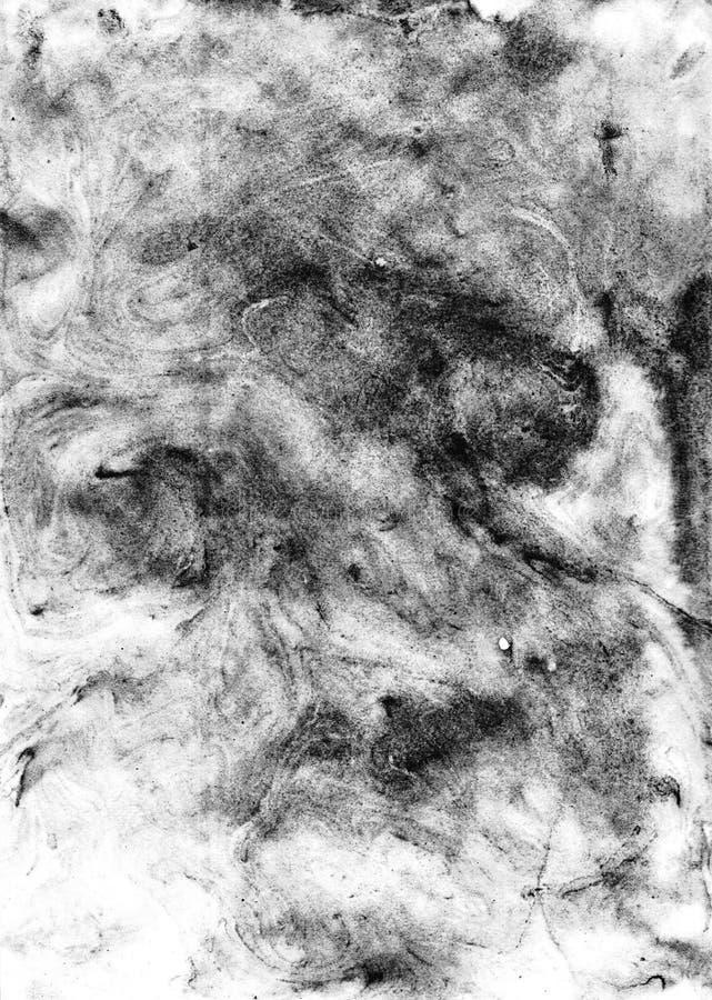 Akwareli Ebru rękodzieła monochromatic abstrakcjonistyczny tło dla royalty ilustracja
