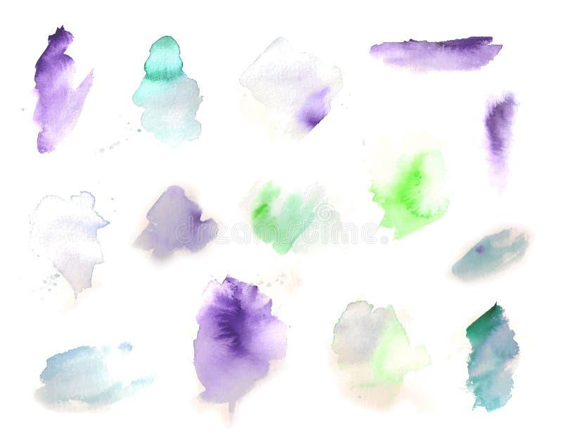 Akwareli farby splat ilustracji