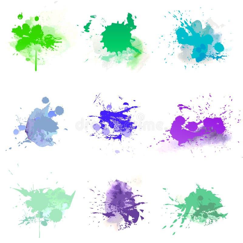 Akwareli farby splat ilustracja wektor
