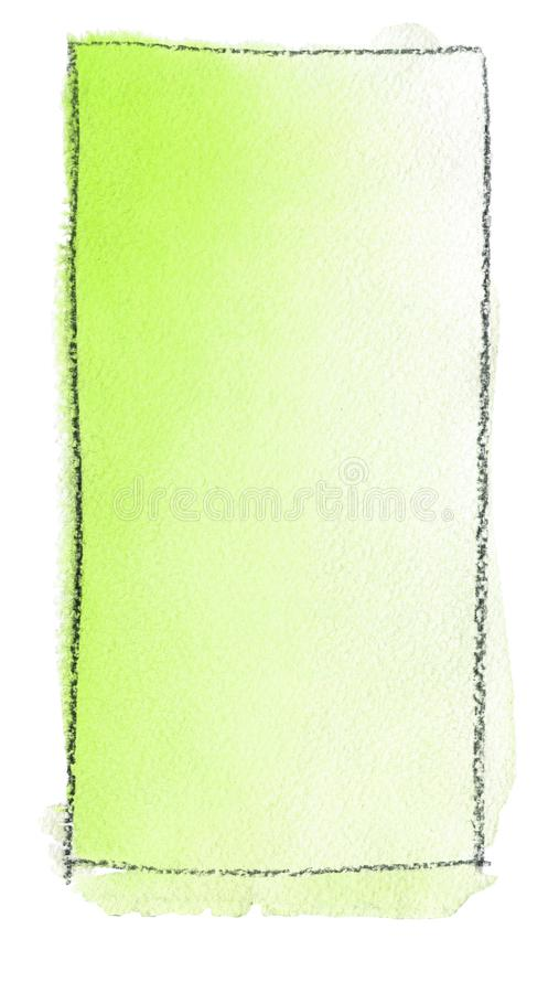 Akwareli gradientowa pełnia od żółtej zieleni biel dla tła Tekstura akwarela papier Pionowo prostokąt odskakujący a ilustracji