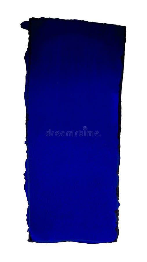Akwareli gradientowa pełnia od czerni zmrok - błękit dla tła Tekstura akwarela papier Pionowo prostokąt odskakujący a ilustracji