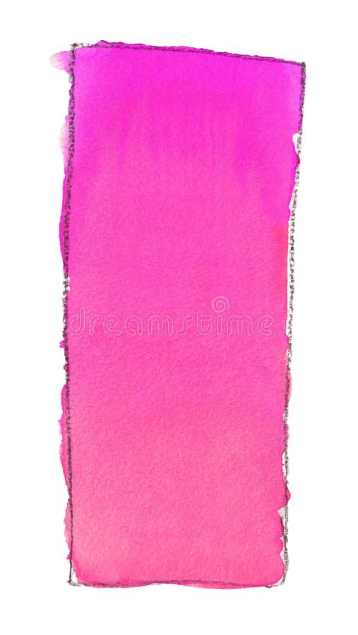 Akwareli gradientowa pełnia od menchii czerwień dla tła Tekstura akwarela papier Pionowo prostokąt odskakiwał linią ilustracja wektor