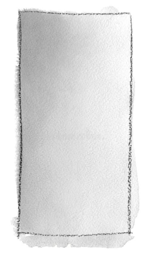 Akwareli gradientowa pełnia od popielatego biel dla tła Tekstura akwarela papier Pionowo prostokąt odskakiwał linią royalty ilustracja