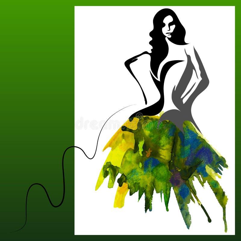 Akwareli kobieta ilustracji