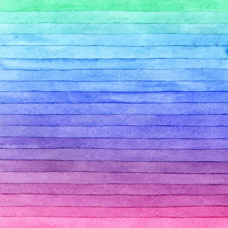 Akwareli kolorowi szczotkarscy uderzenia, pasiasty tło Ręka rysująca technika zdjęcie royalty free