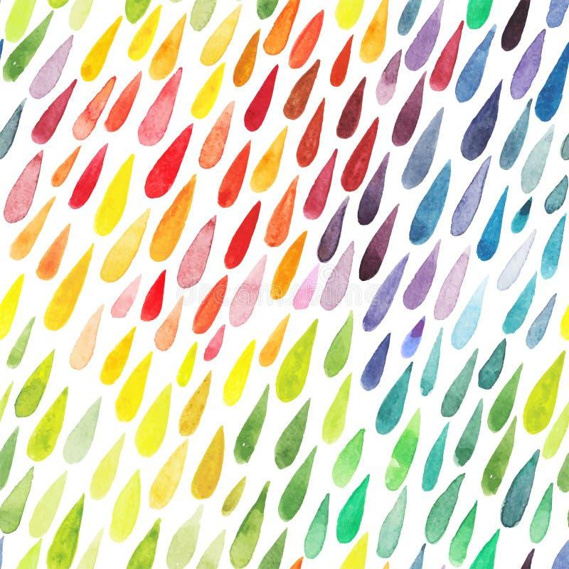 Akwareli kolorowy abstrakcjonistyczny tło Kolekcja farby spl ilustracja wektor
