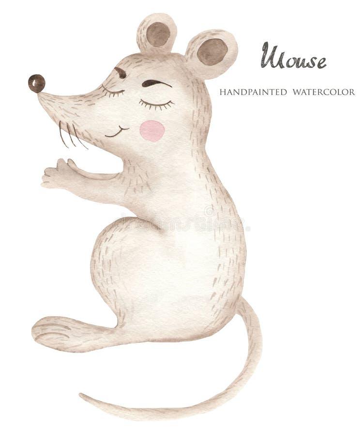 Akwareli kreskówki mysz royalty ilustracja