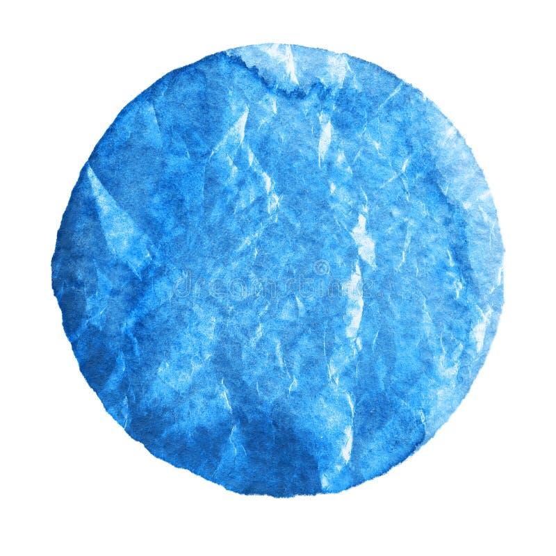 Akwareli lapis błękitny okrąg na białym tle ilustracja wektor